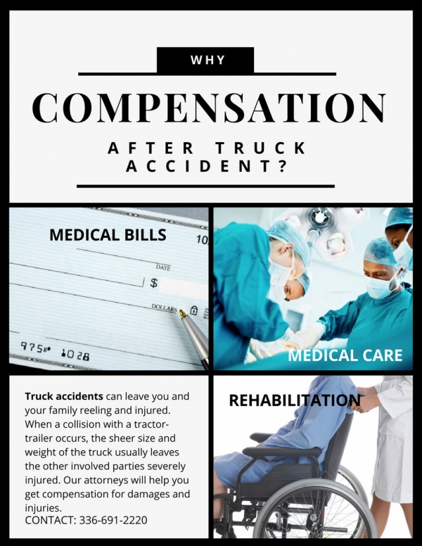 Why do you need compensation after a truck accident in NC?