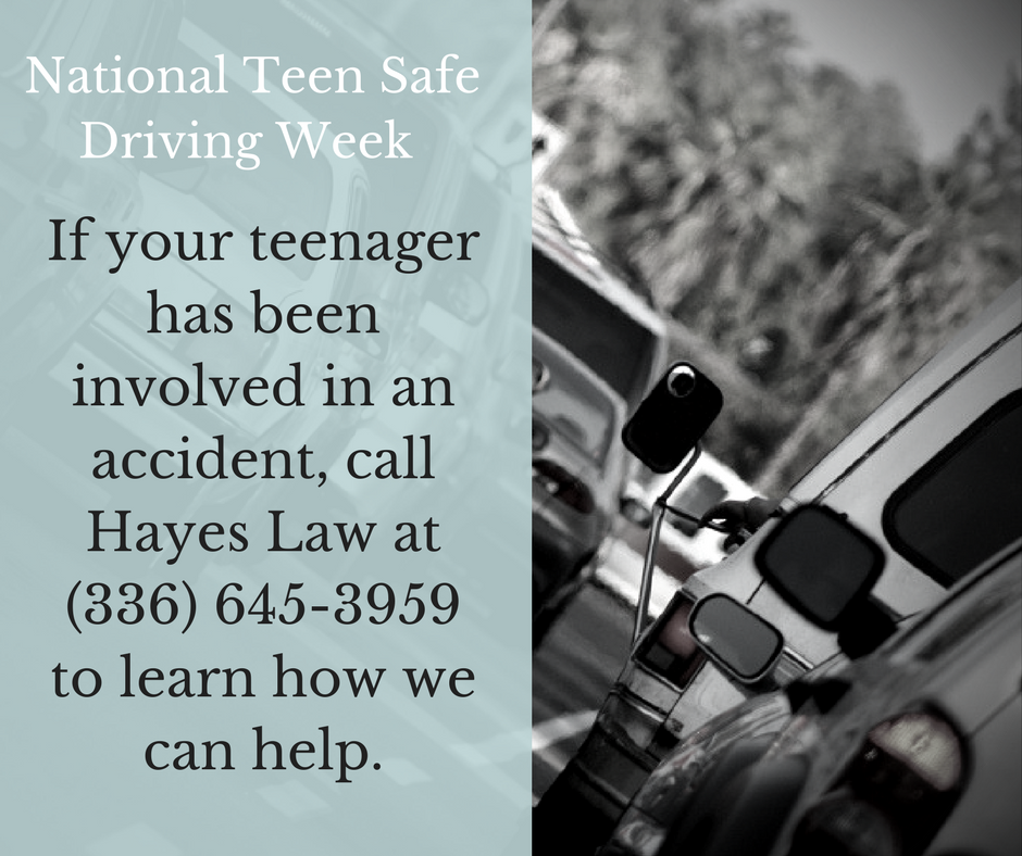 Greensboro Teen Car Accident Lawyers | Teen Safe Driving Week