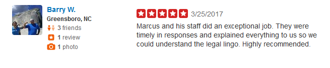 Review for Catastrophic Injury Lawyer in Greensboro Marcus Hayes